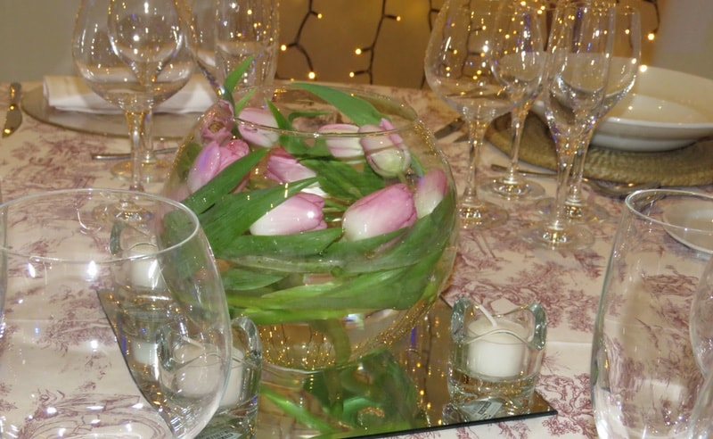 Corporative events centerpieces