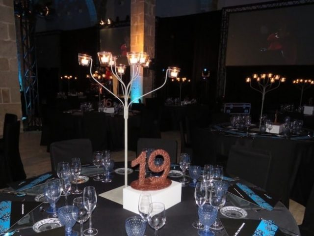 Personalized centerpieces events