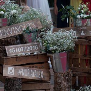 Decoración rústica para tu boda o evento