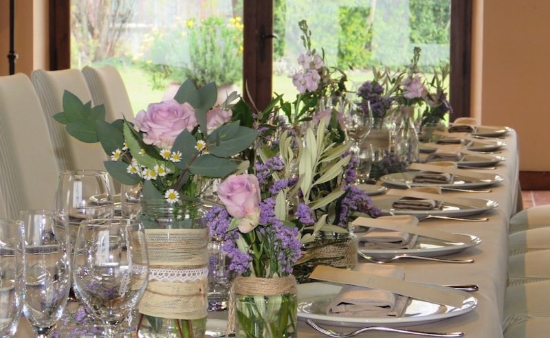 Lavanda centerpieces wedding