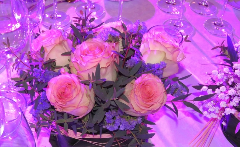 Centerpieces with roses