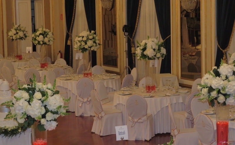 Tall centerpieces wedding