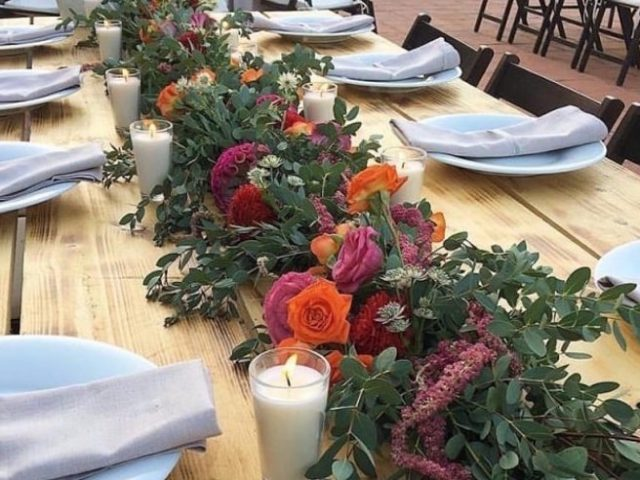 Centerpieces wedding candles
