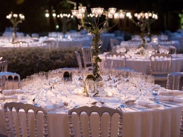 Centros de mesa altos boda