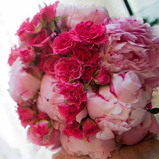 Ramo de novia rosas pitimini