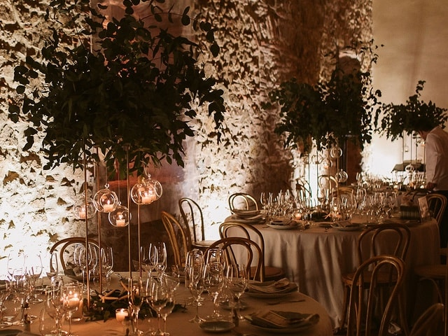 Candles hanging centerpieces