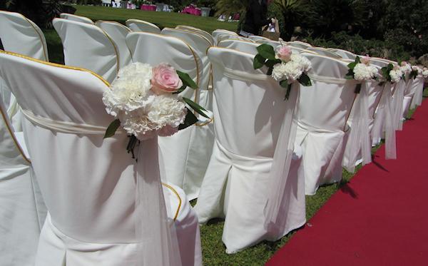 Florista boda romántica