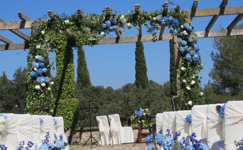 Hortensias azules para boda
