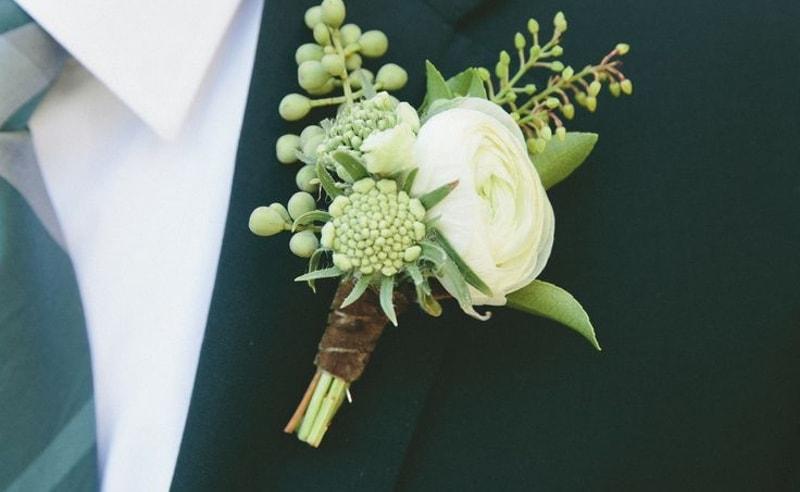 Flor para el novio