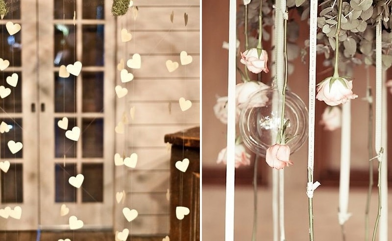 Cortinas de flores