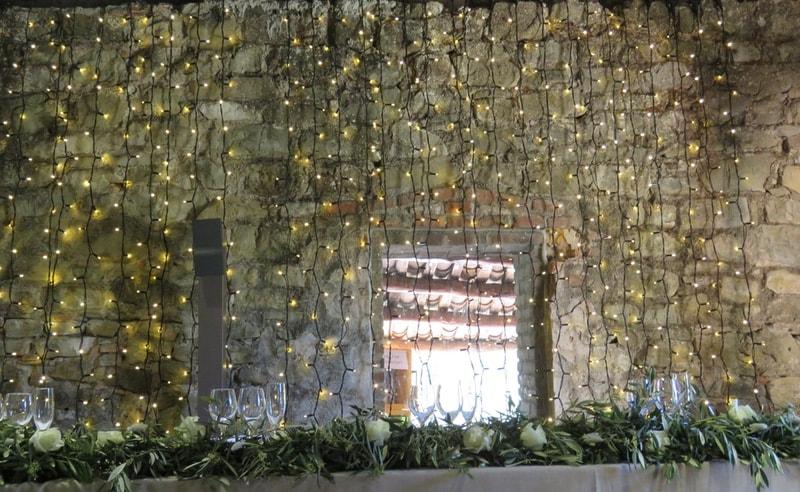 Decoración floral mesa presidencial
