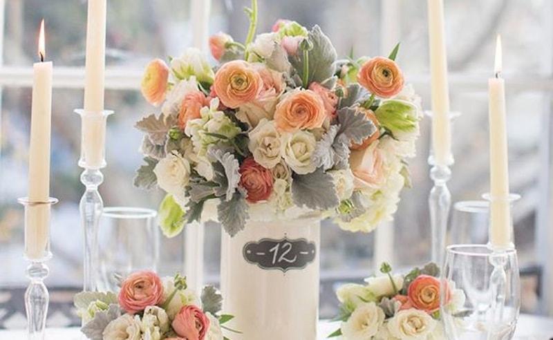 Estilos de números de mesa boda