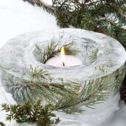 Ideas para centros de mesa Navideños utilizando velas