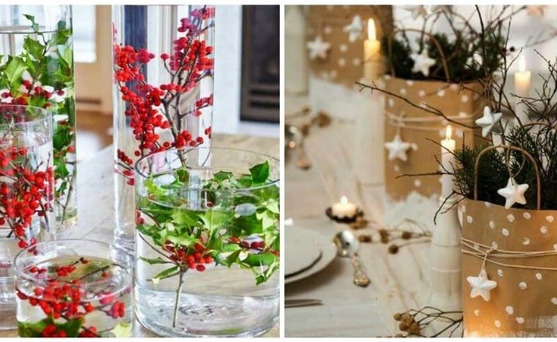 Ideas para hacer elegantes centros de mesa navide os for Centros de mesa navidenos elegantes