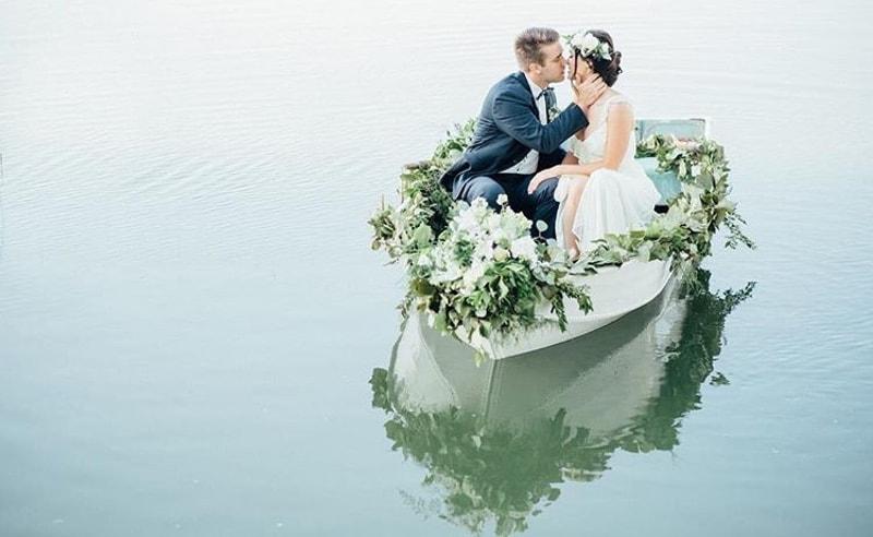 Flores boda marinera