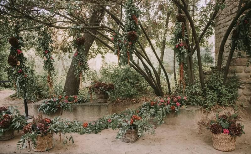 Decoración de árboles para bodas