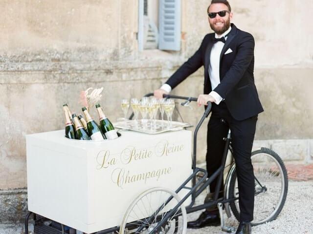 Champagne boda