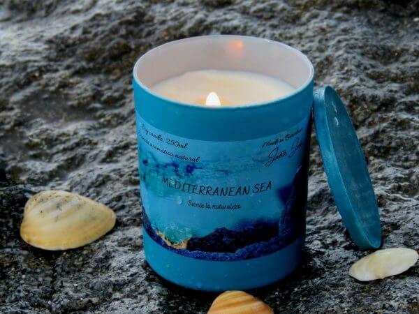 Velas aromática olor mar