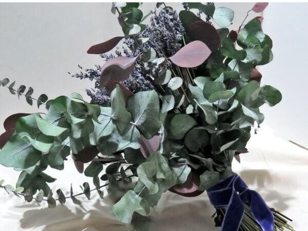 Ramo de flores liofilizadas