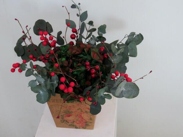 Flores preservadas para Navidad