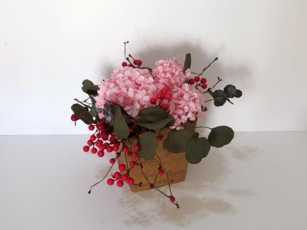 Centro de mesa con Flores liofilizadas